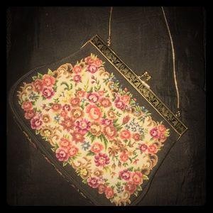Handbags - Vintage 50s floral purse